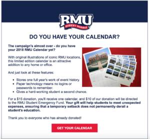 RMU Calendar Appeal #3