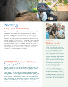 National Aviary 2017 Annual Report Sample Page